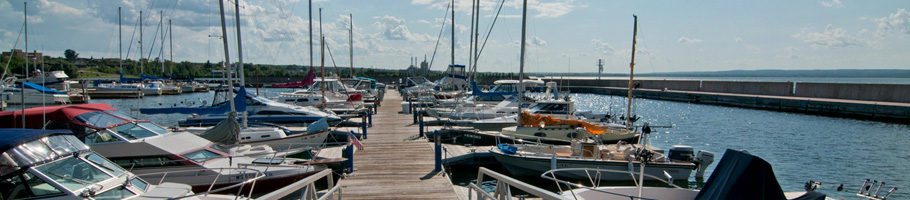Ashland Marina on Lake Superior
